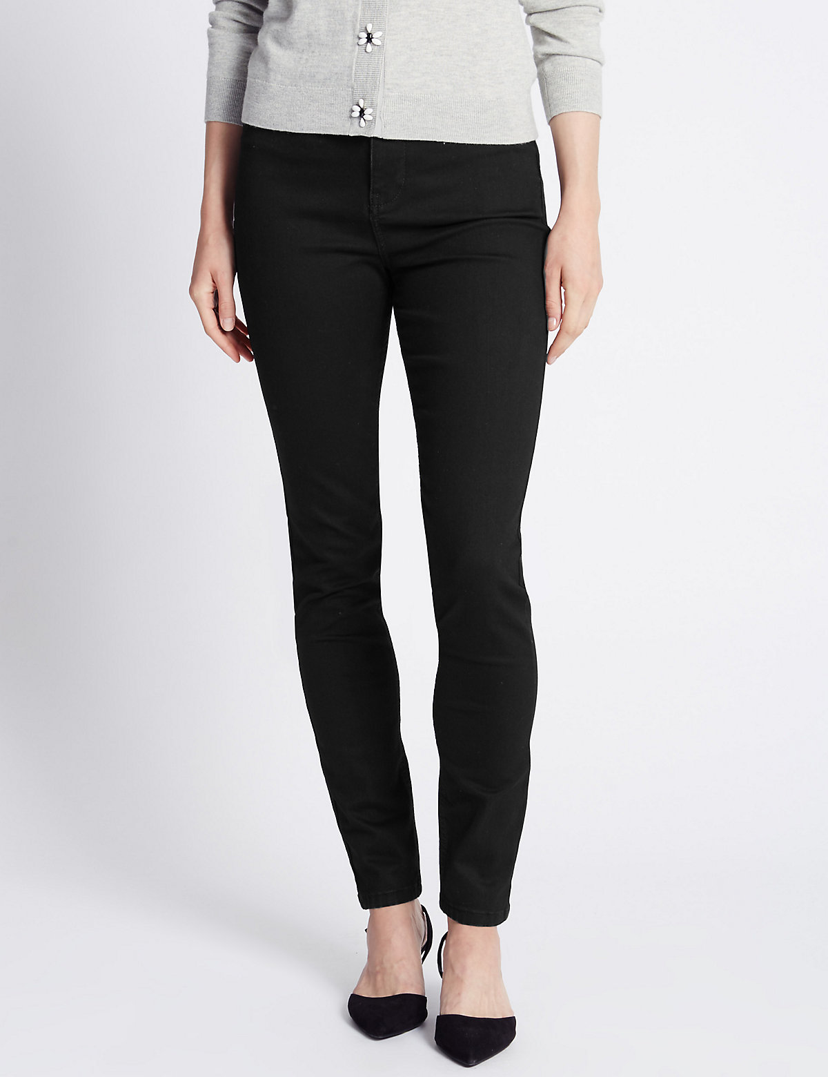 Per Una Roma Rise Slim Leg Jeans