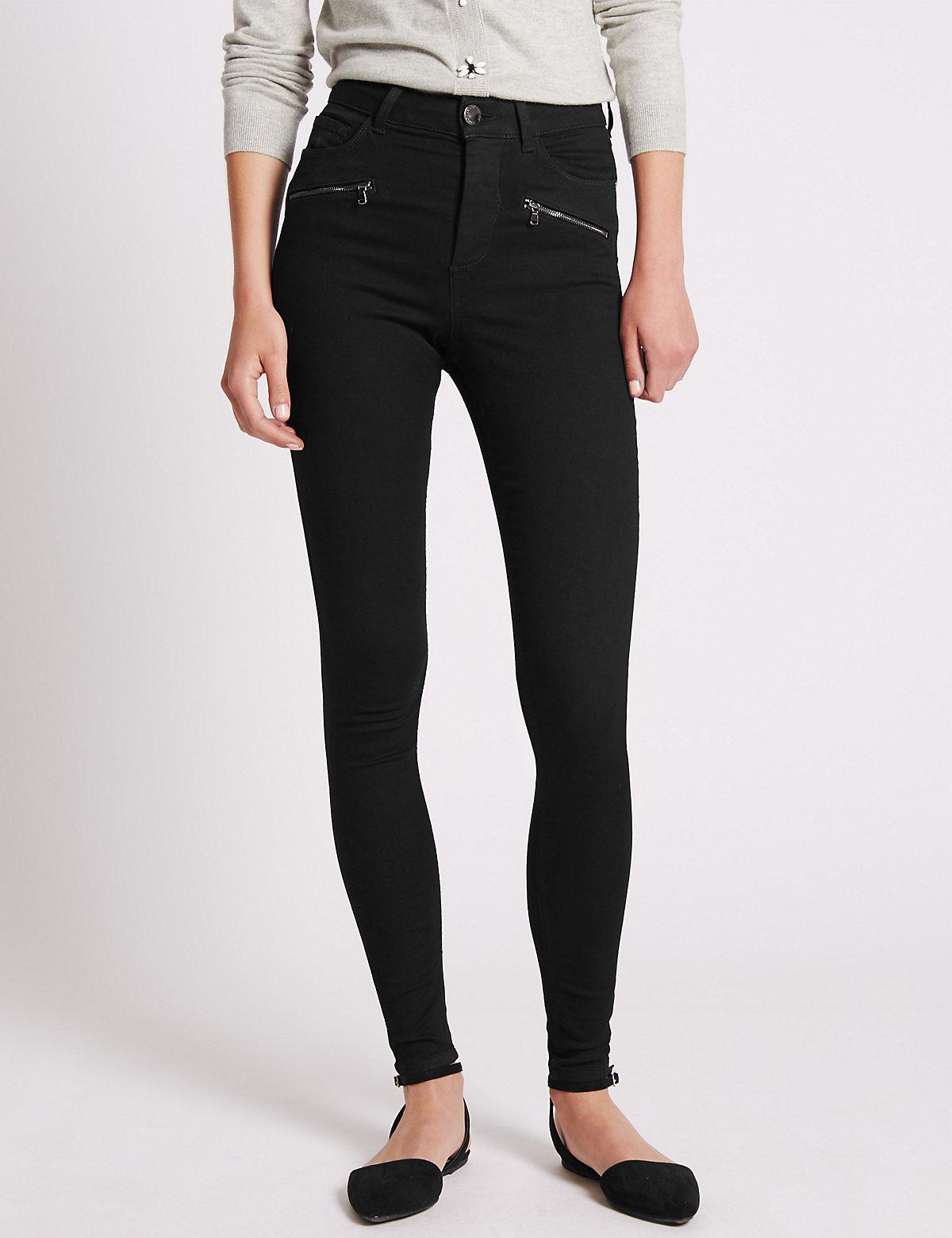 Per Una Skinny Jean with Zip Pocket Detail