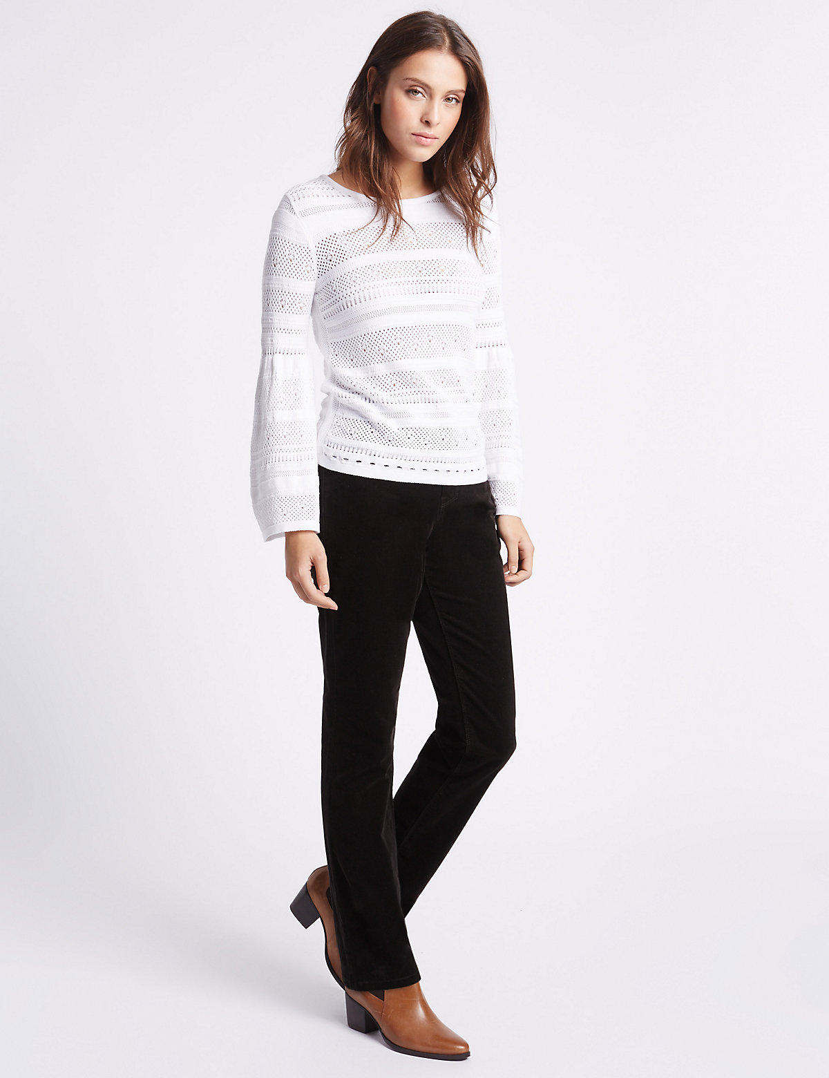 Per Una Straight Leg Cord Trouser with Pocket Detail