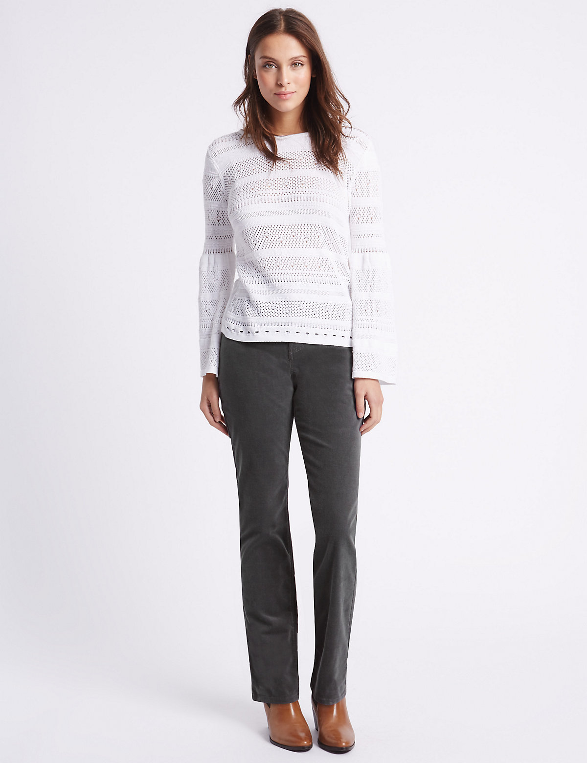 Per Una Cord Straight Leg Trousers