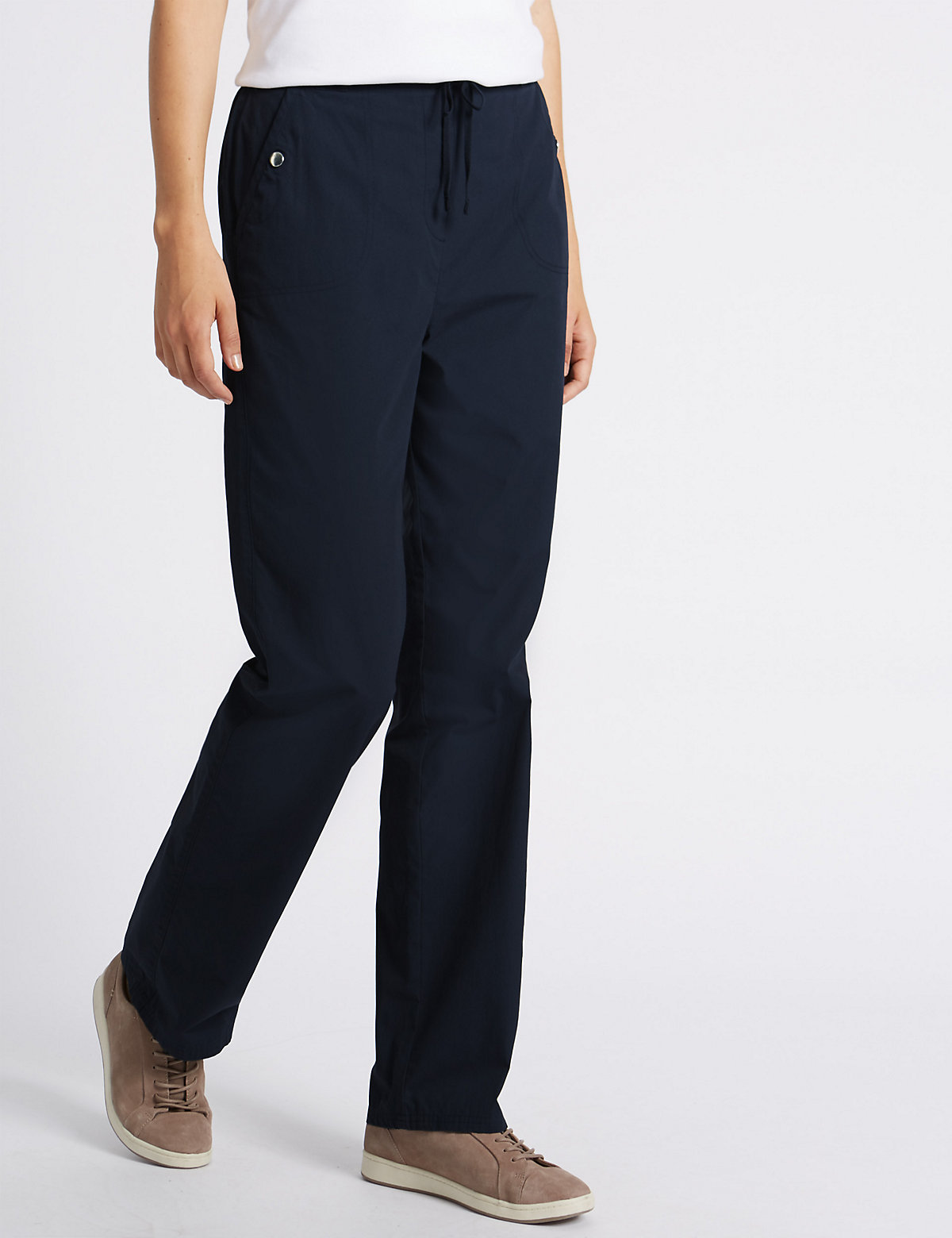 Classic Pure Cotton Rugby Straight Leg Trousers