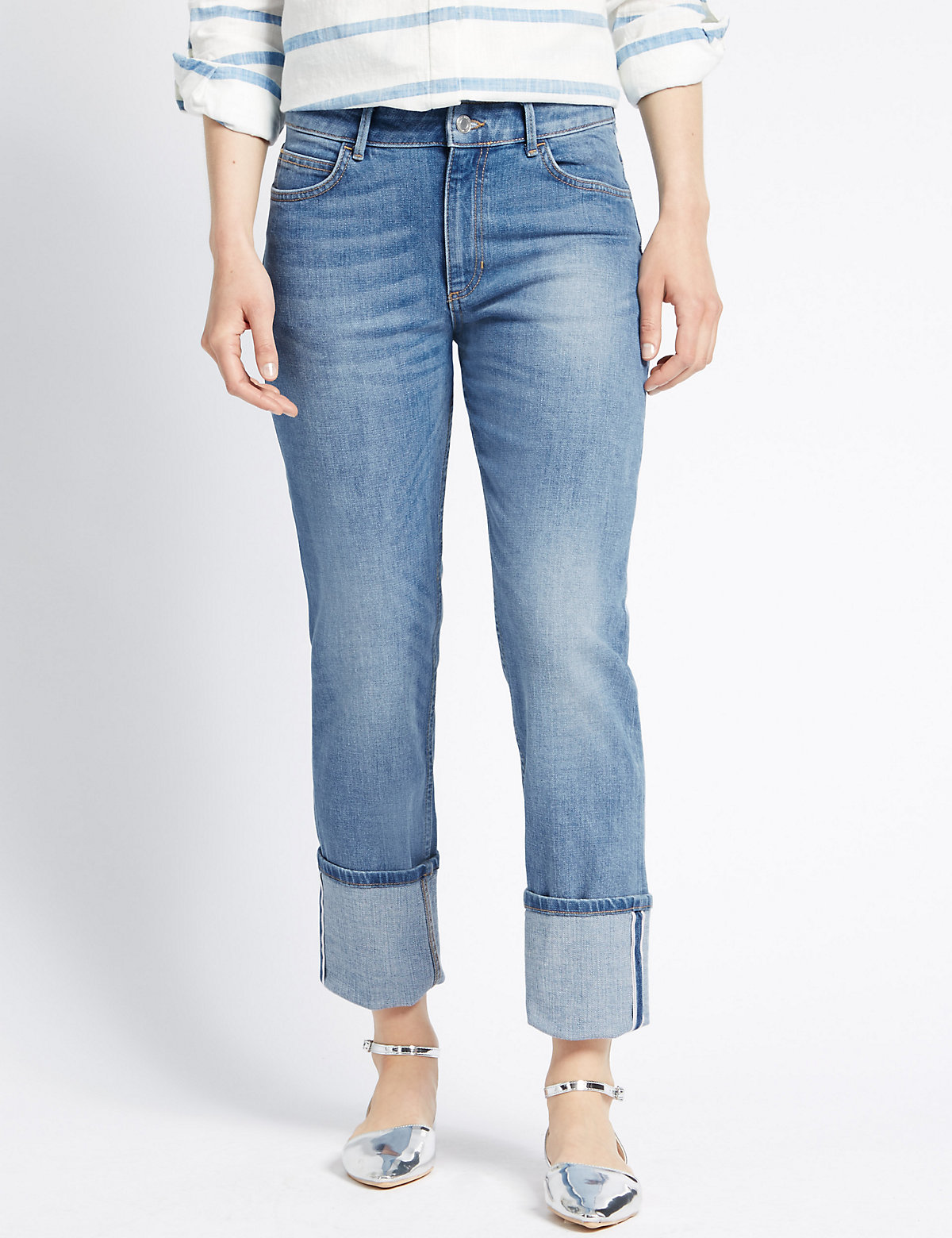 M&S Collection Relaxed Straight Leg Jeans