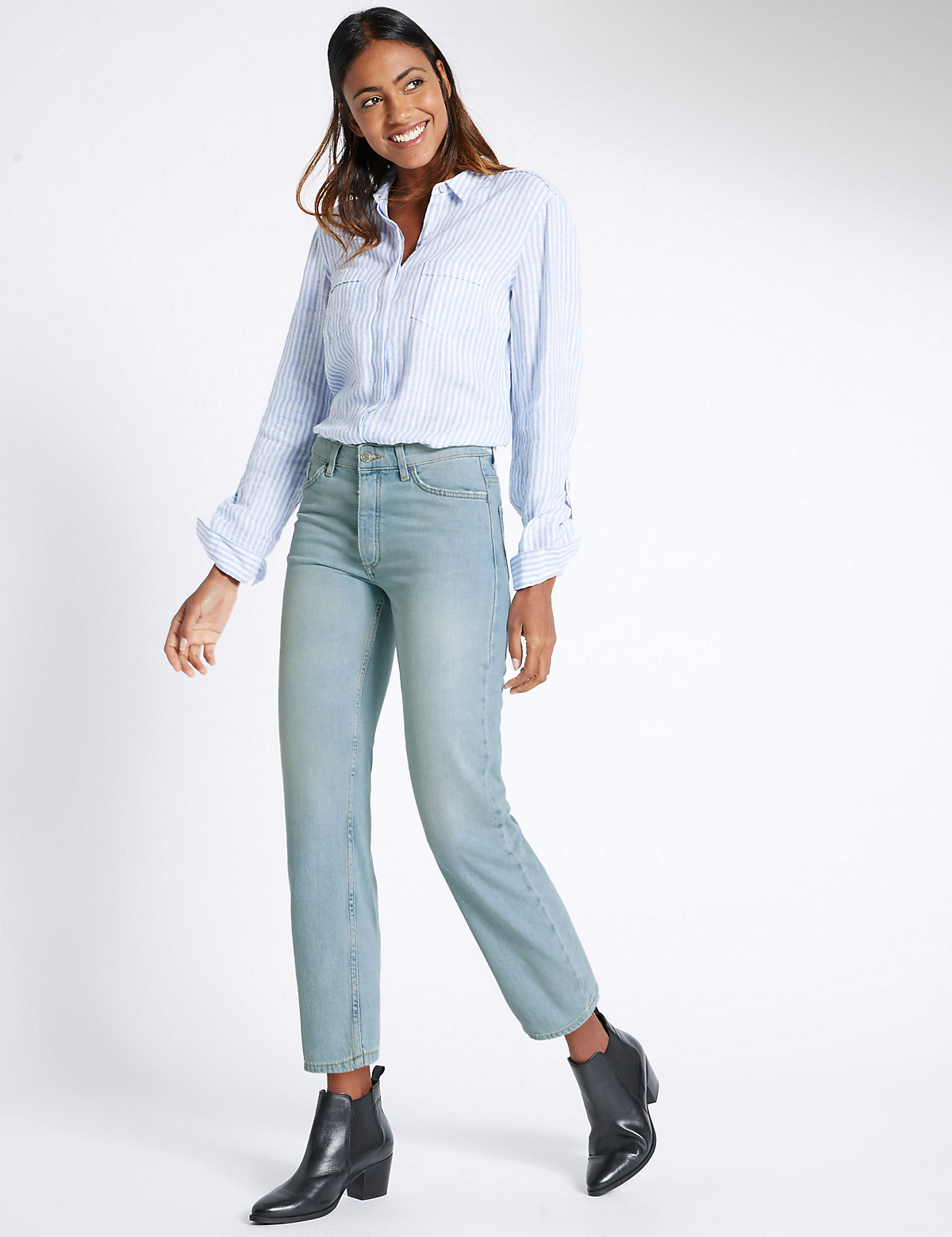M&S Collection Authentic Straight Leg Jeans
