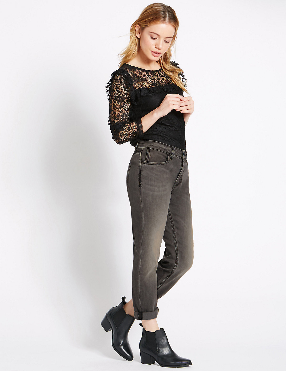 M&s Collection Petite Relaxed Skinny Jeans