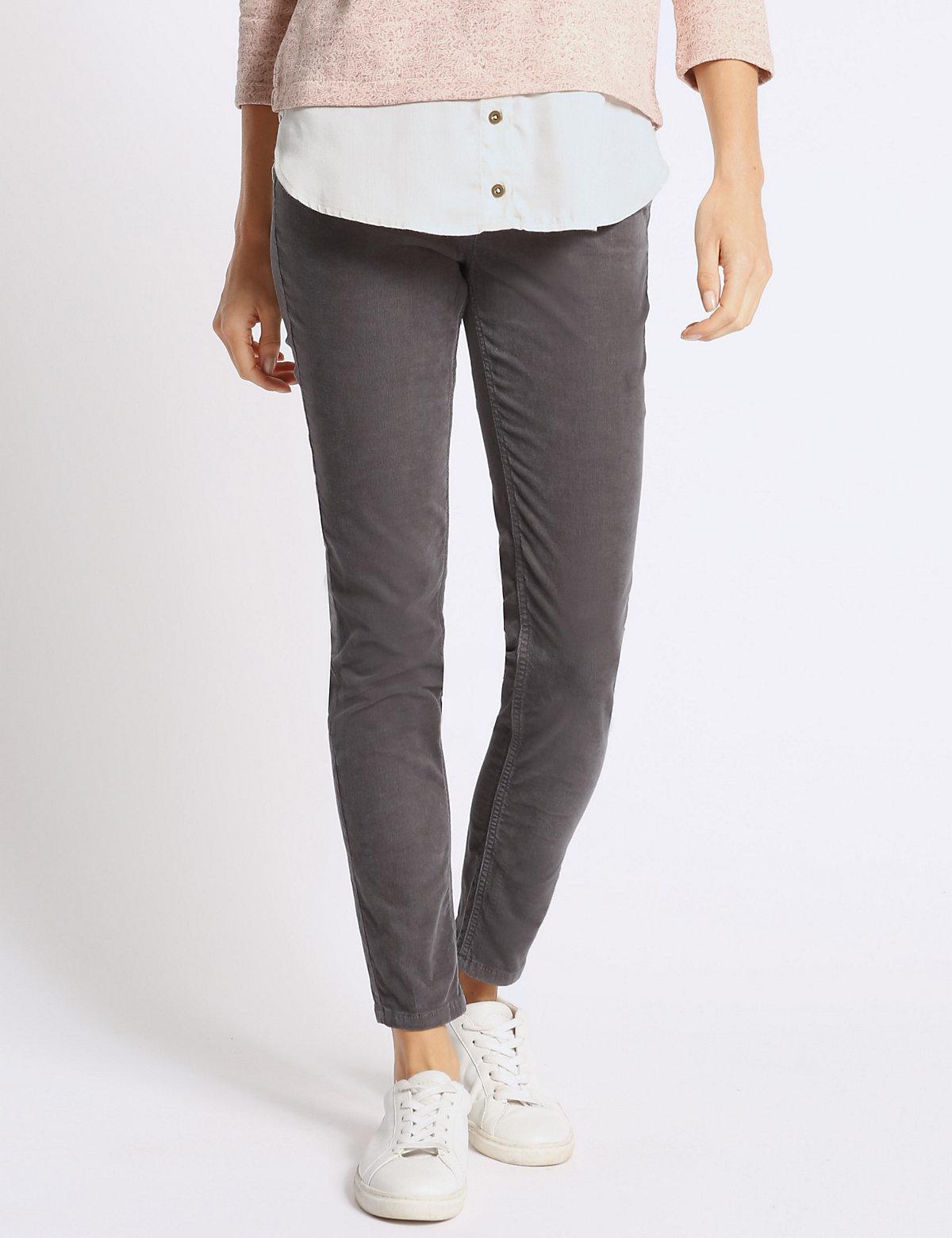 M&S Collection Skinny Cord Trousers