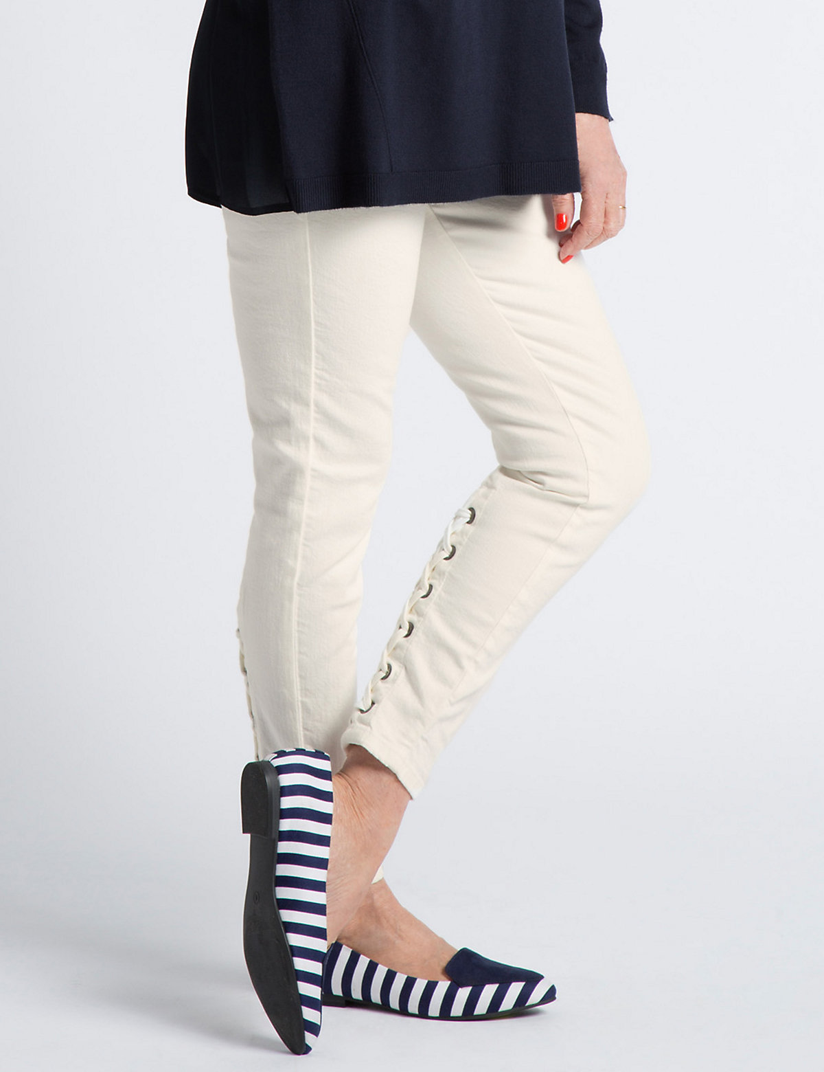 Twiggy Lace Up Super Skinny Jeans