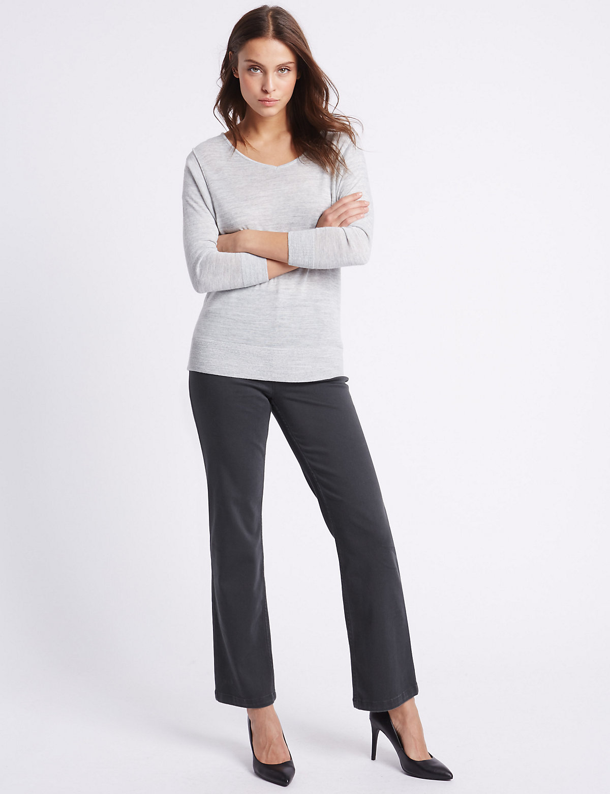 Per Una Embellished Roma Rise Straight Leg Jeans