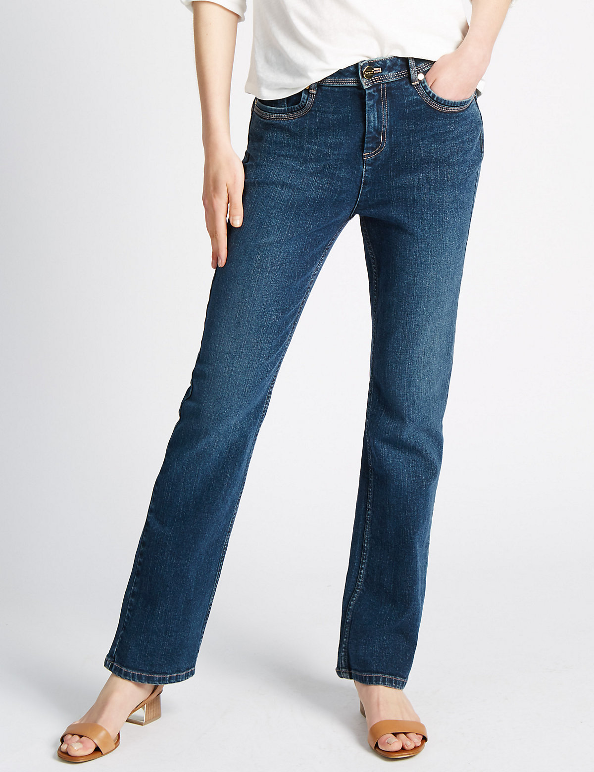 Per Una Roma Rise Sculpt & Lift Boot Cut Jeans