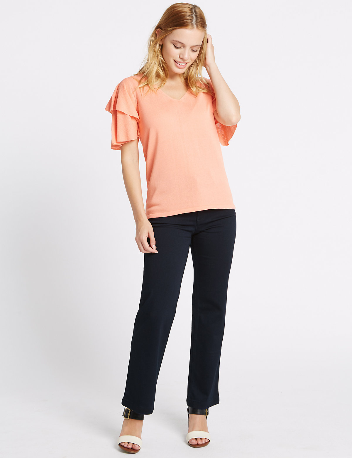 Per Una Petite Bling Straight Leg Jeans