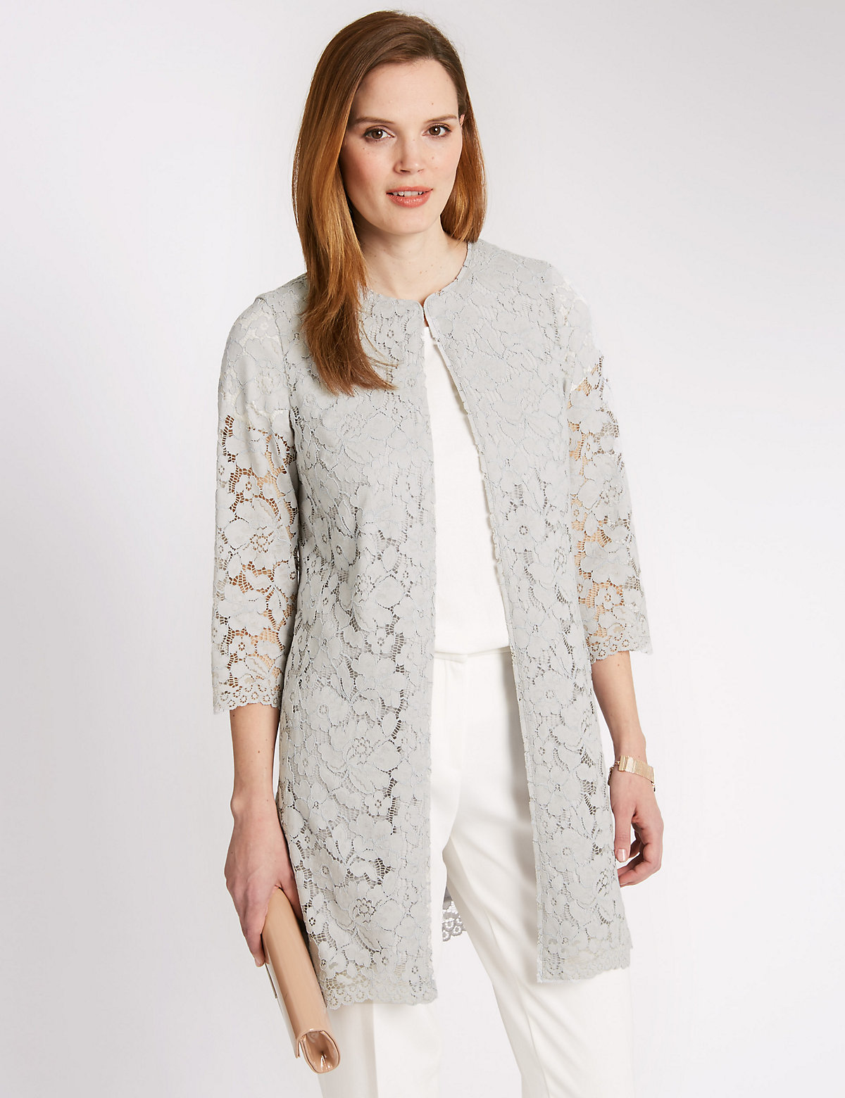 Classic Floral Lace Overcoat