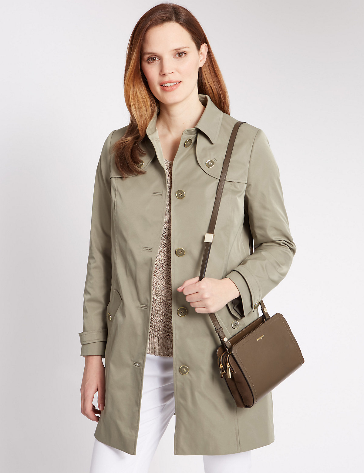 Image of Classic Panelled Trench Coat