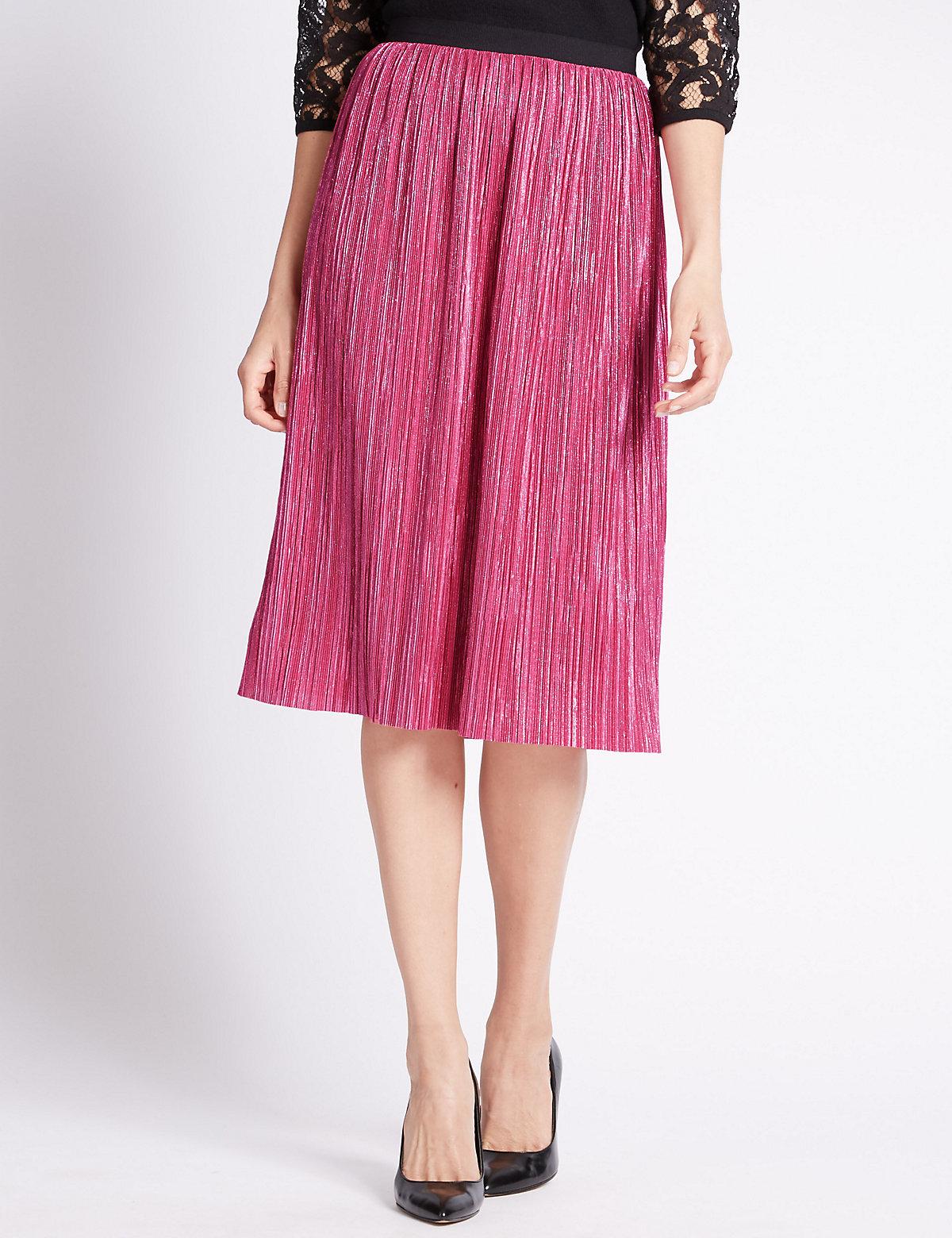 Per Una Pull On Metallic Pencil Skirt
