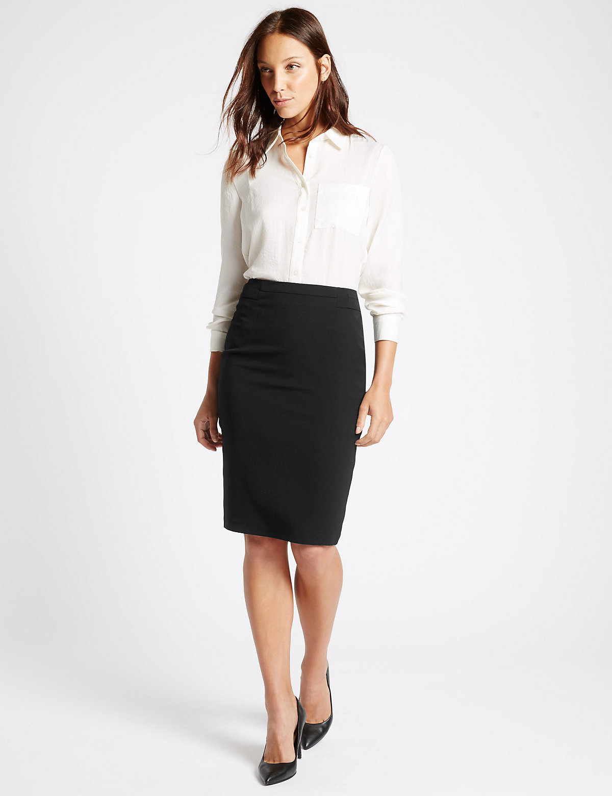 M&S Collection Panel Detailed Pencil Skirt