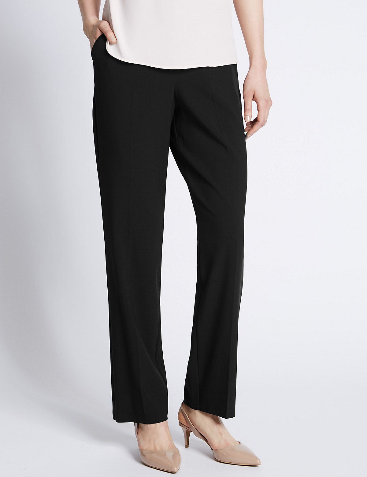 M&S Collection Slant Pocket Straight Leg Trousers