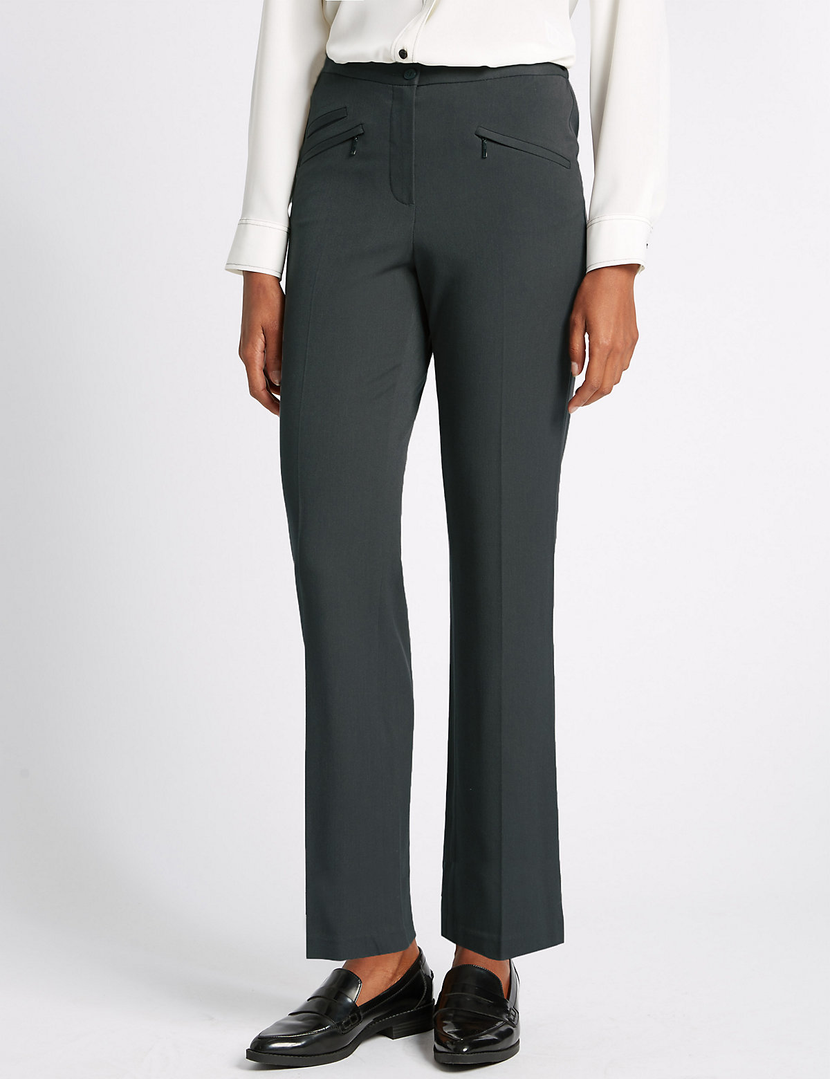 M&S Collection 3 Pocket Straight Leg Trousers