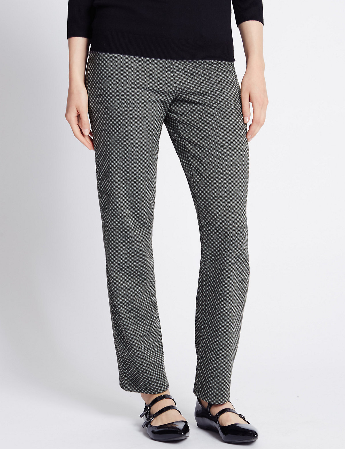 M&S Collection Pull On Straight Leg Trousers
