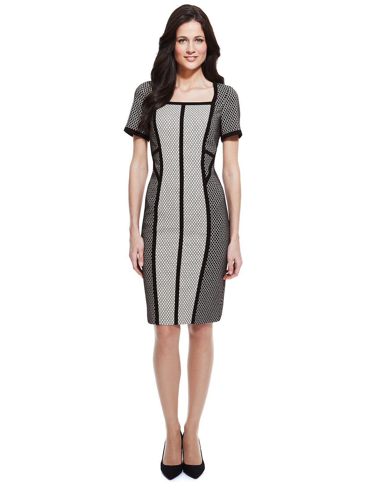 M & S Collection Positive & Negative Block Shift Dress