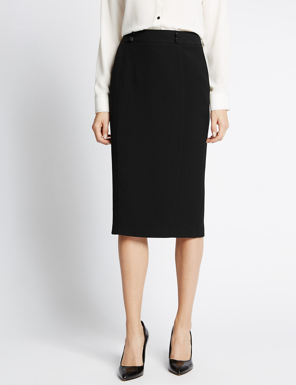 M&S Collection Stitched Pencil Skirt