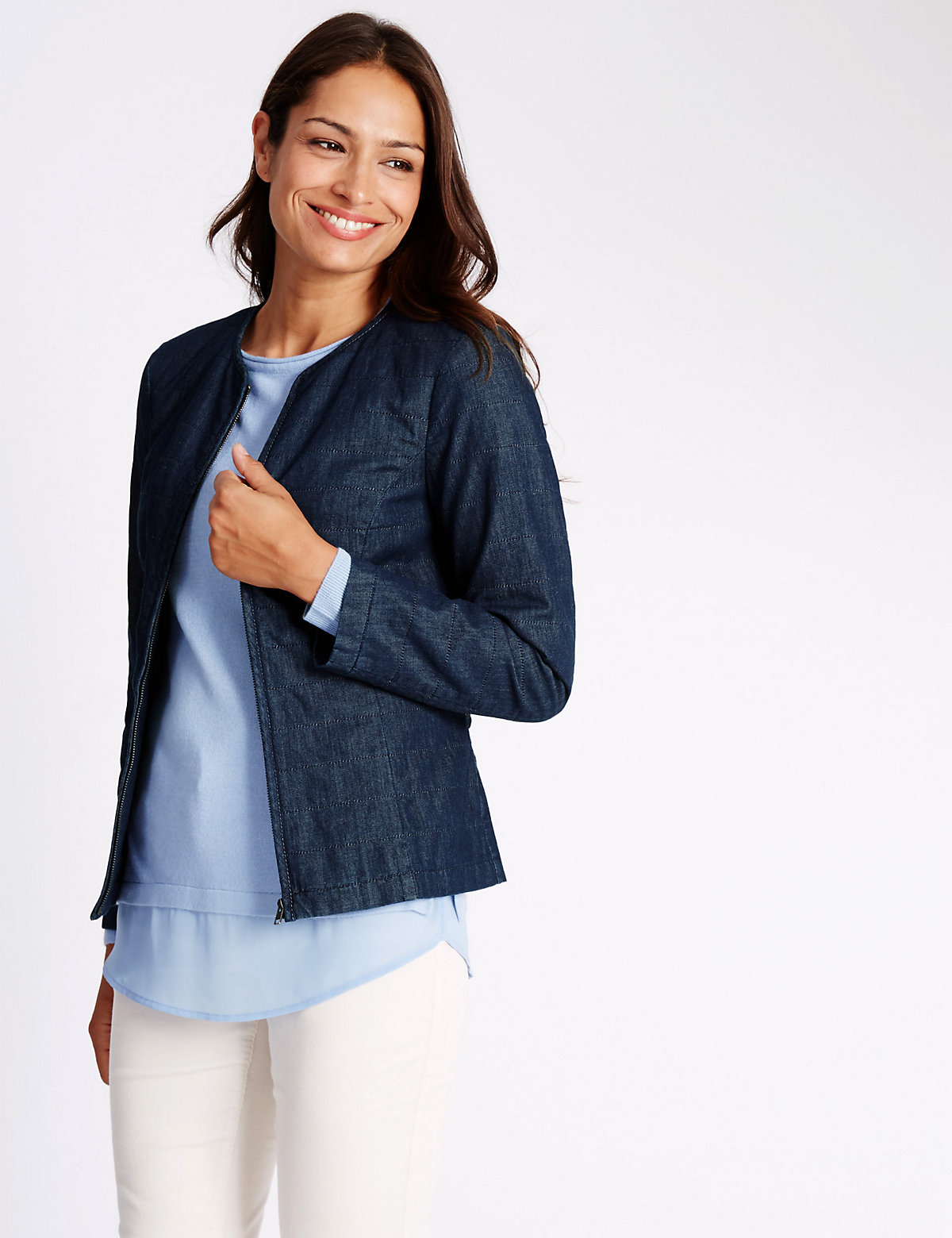 Classic Pure Cotton Denim Kimono Jackets