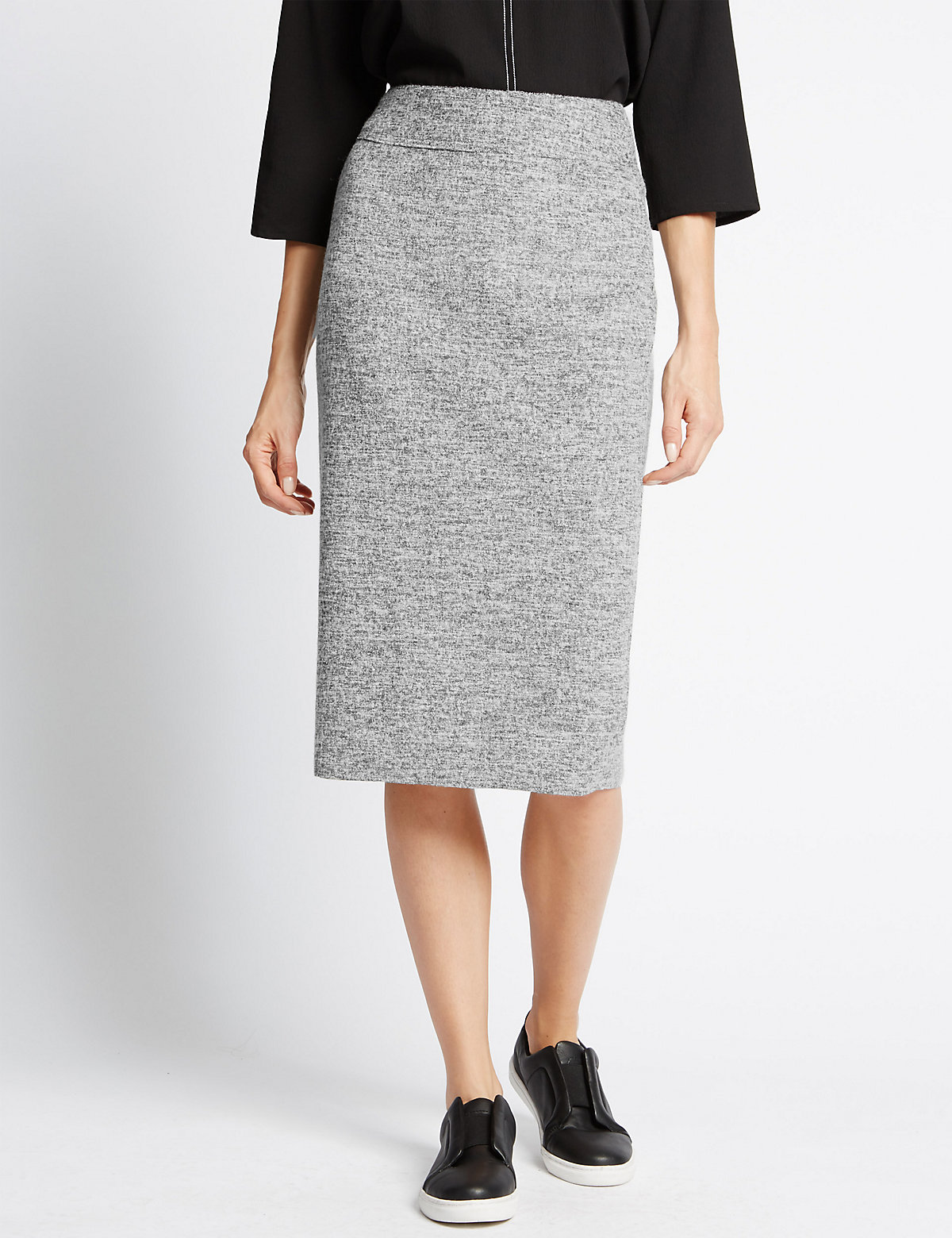 M&S Collection Pencil Skirt with Wool