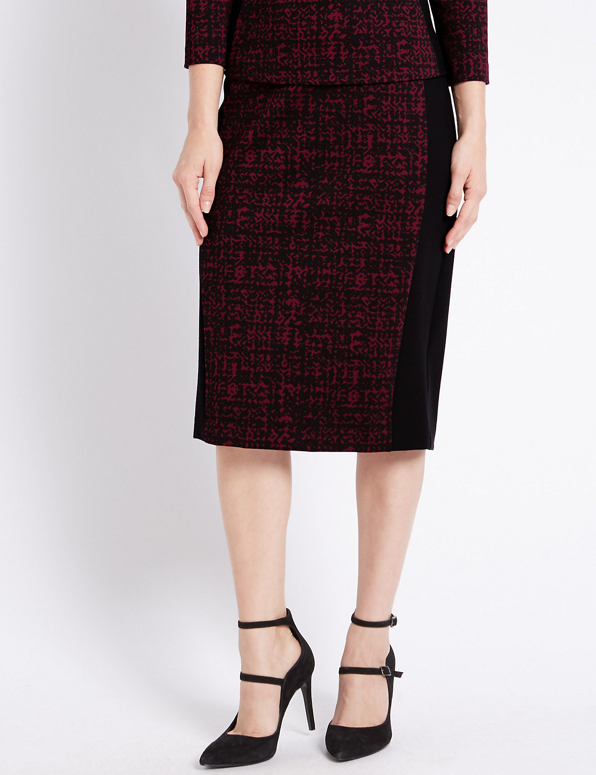 M&S Collection PETITE Printed Pencil Skirt