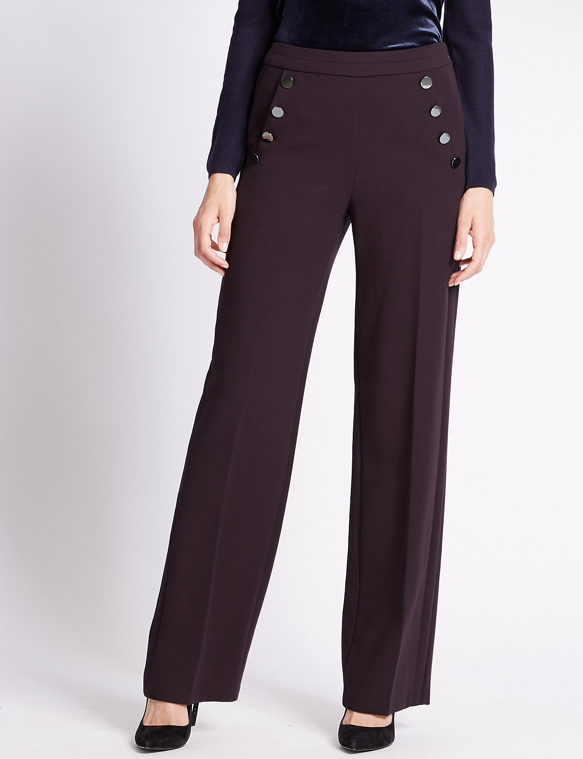 Per Una Wide Leg Double Sailor Trousers