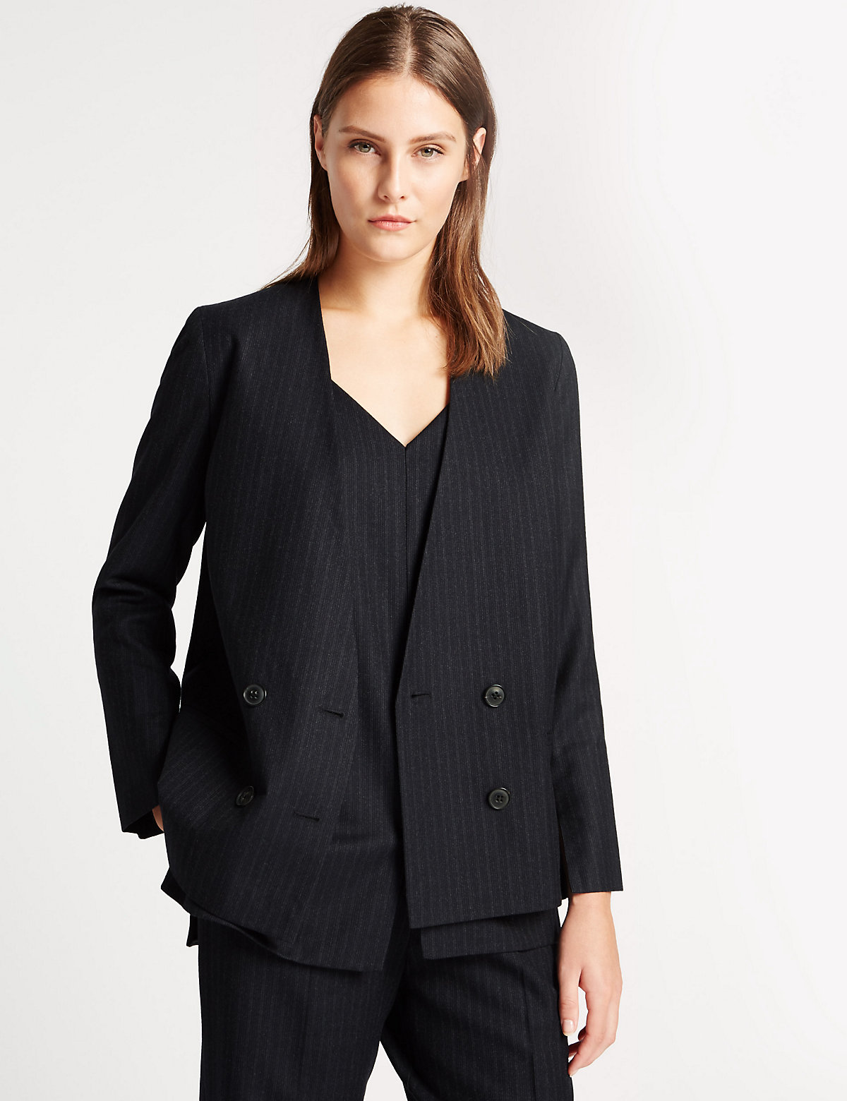 Best of British for M&S Collection Pure Wool Pinstripe Blazer