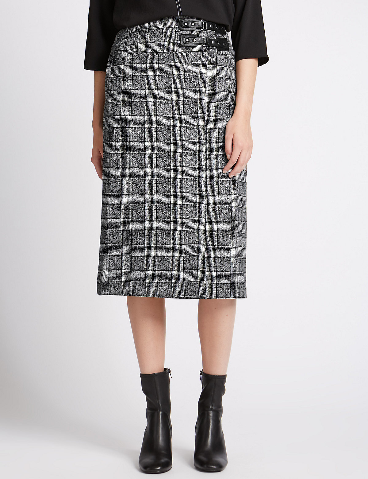 M&S Collection Pleated A-Line Midi Skirt