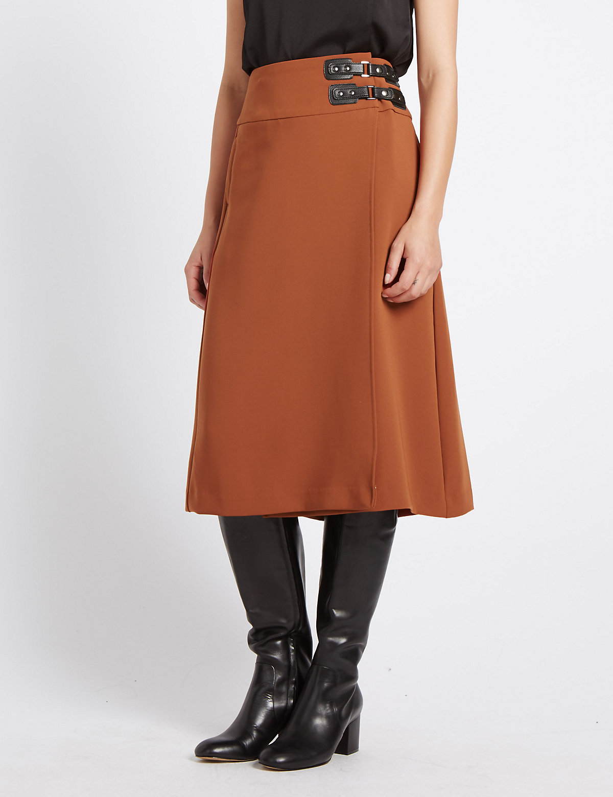 M&S Collection Pleated Kilt Midi Skirt