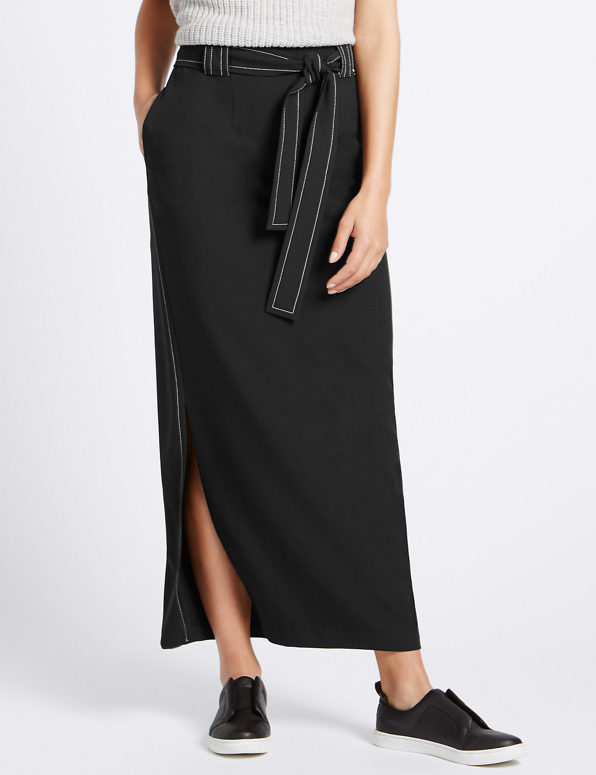 M&S Collection Tie Maxi Skirt