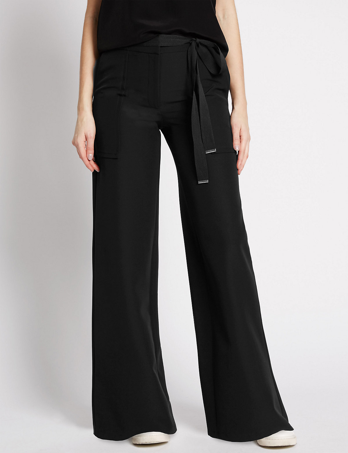 Limited Edition Belted Wide Leg Trousers
