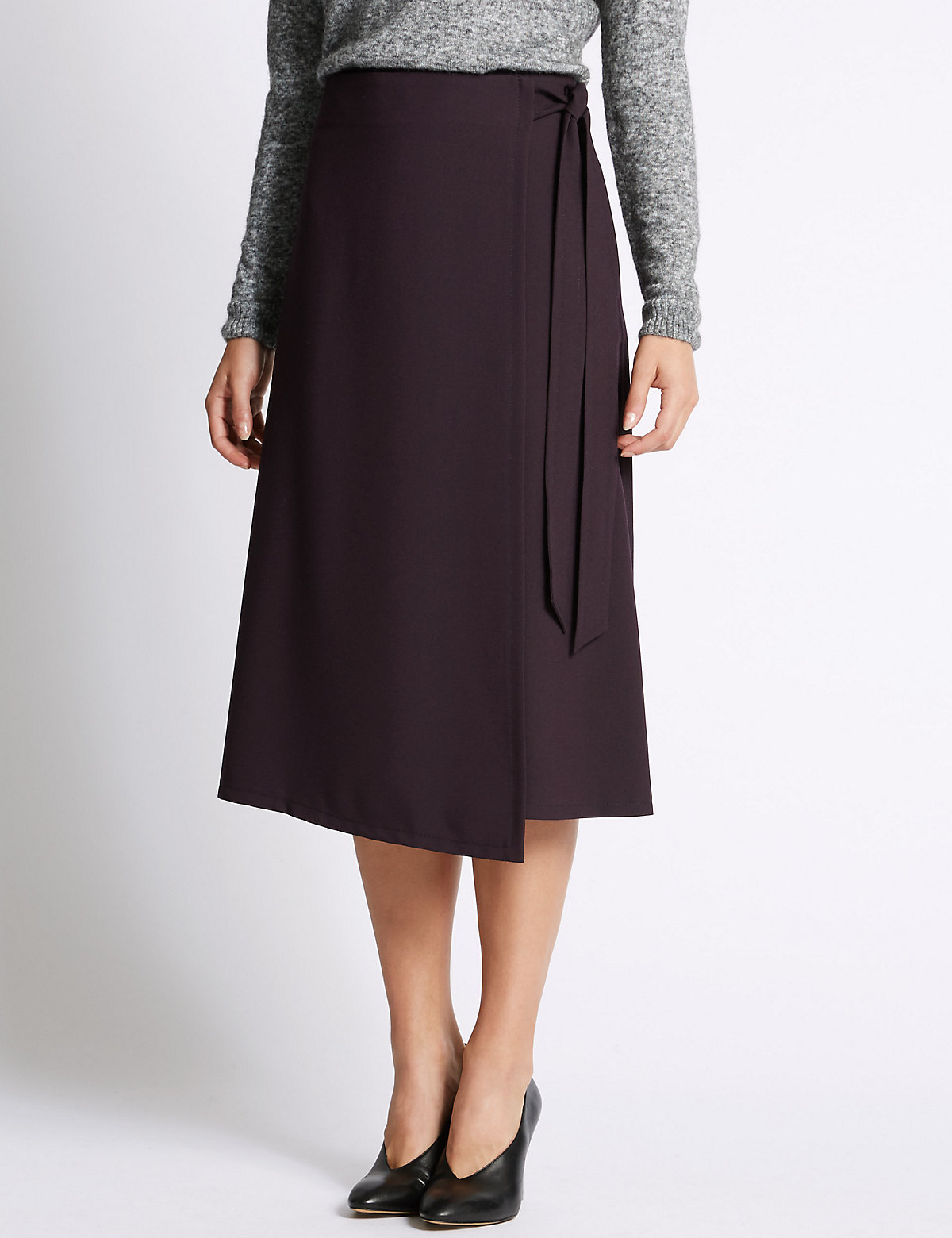 M&S Collection Wrap Stitch A-Line Skirt