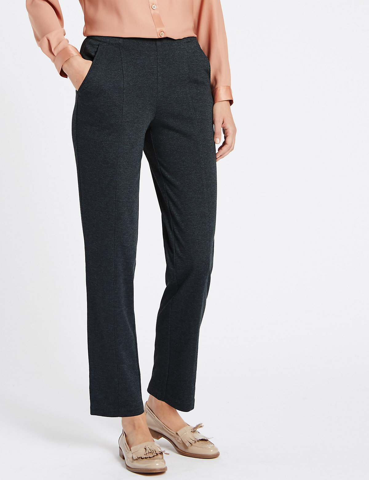 Classic Design Ponte Straight Leg Trousers