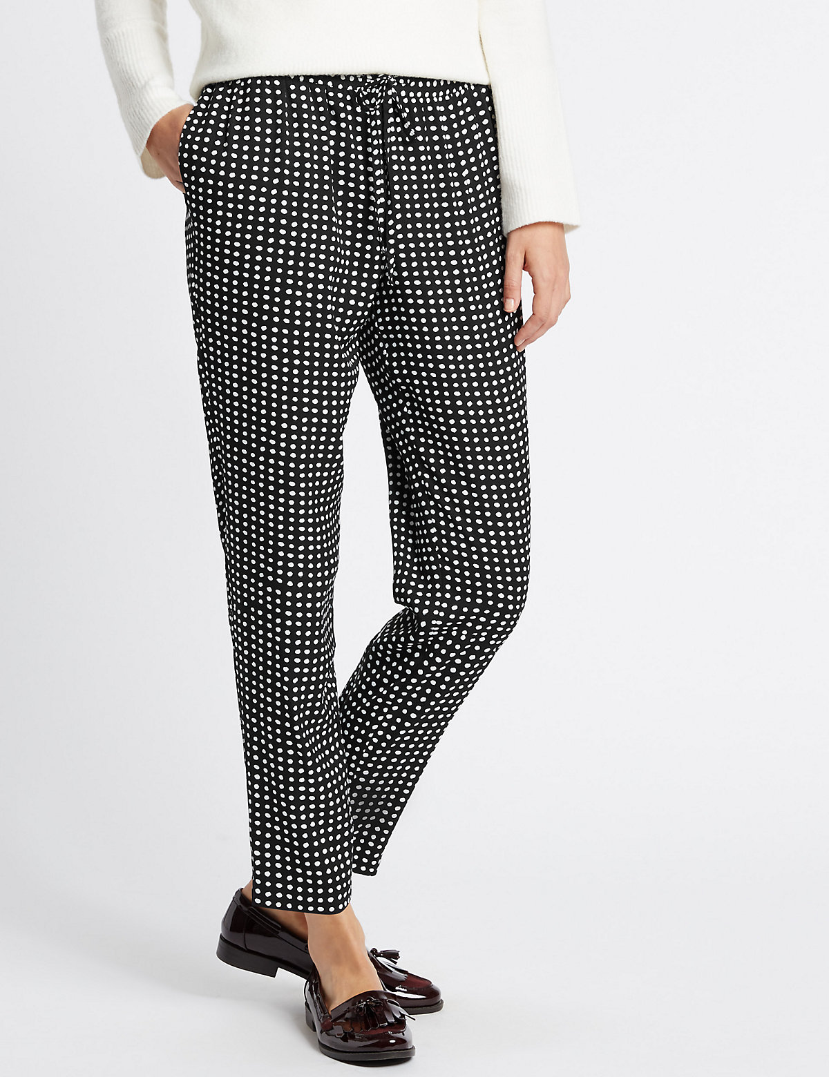 Classic Pull On Straight Leg Trousers