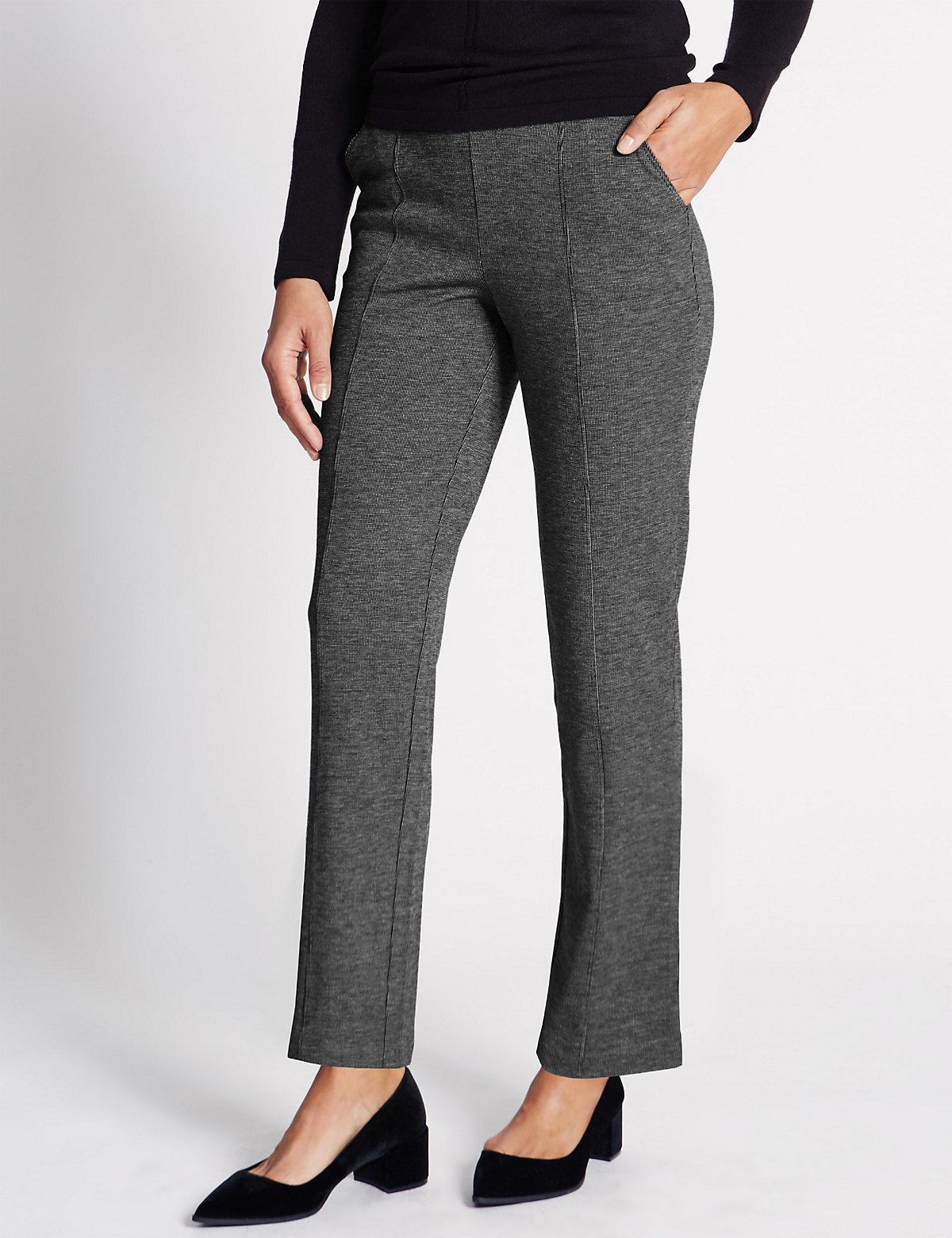 Classic Design Ponte Straight Leg Trousers