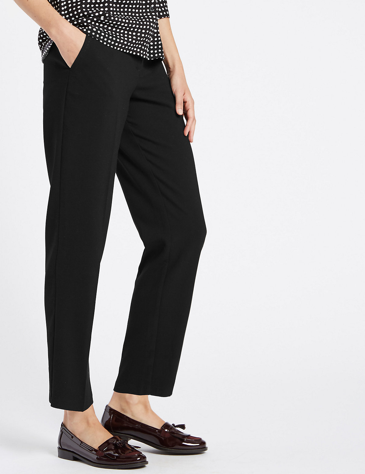 Classic Straight Leg Welt Pocket Trousers