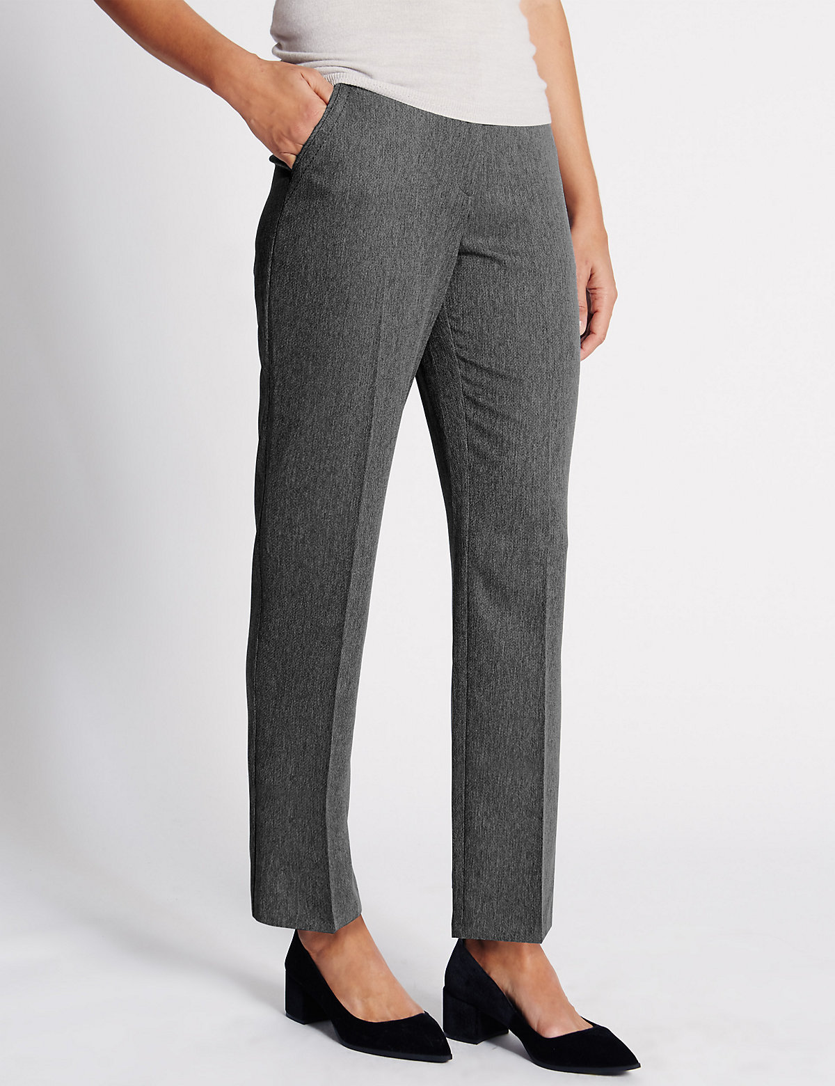 Classic Straight Leg Ankle Trousers