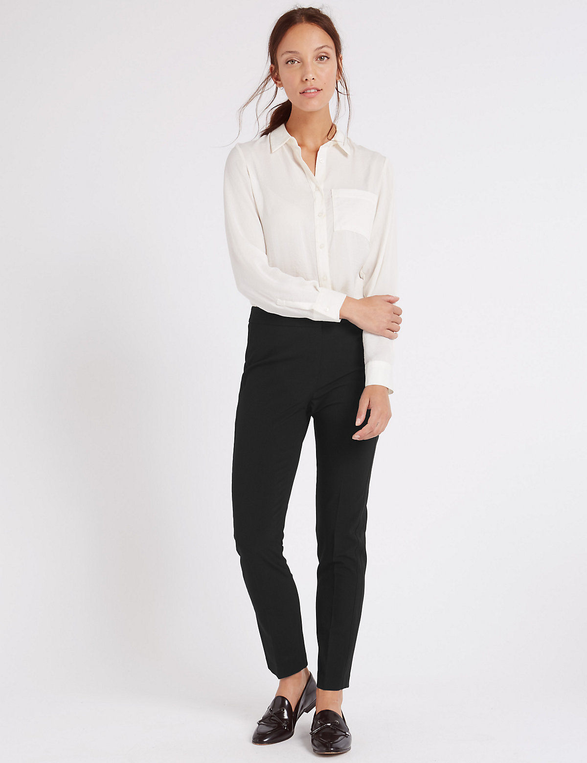 MS Collection Modern Slim Leg Trousers Marks and Spencer P22470656