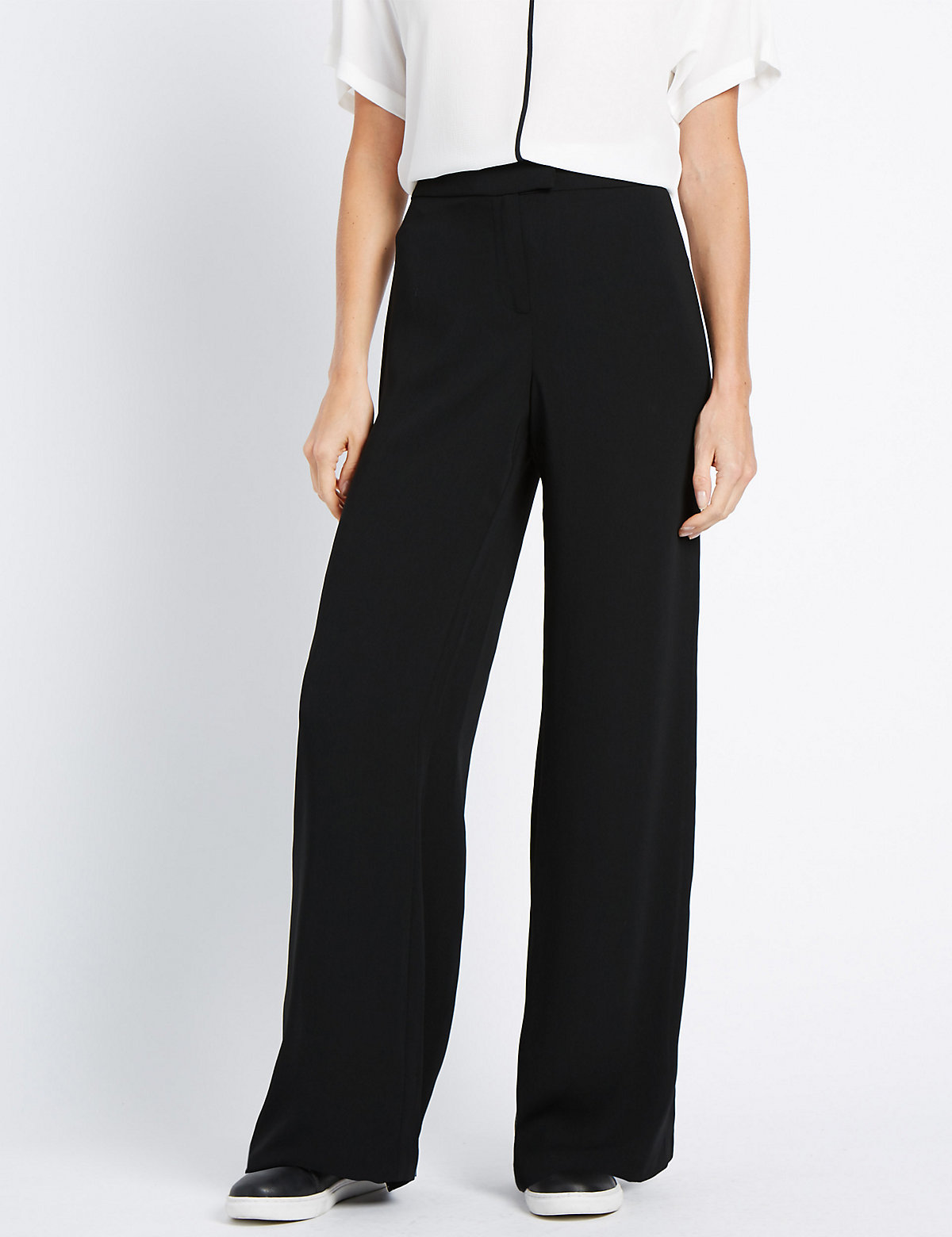 M&S Collection Wide Side Striped Trousers