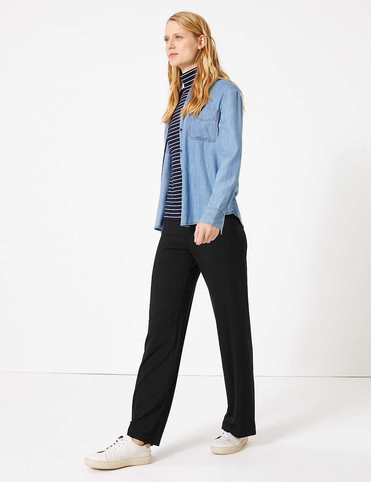 M&S Collection New Jersey Wide Leg Trousers