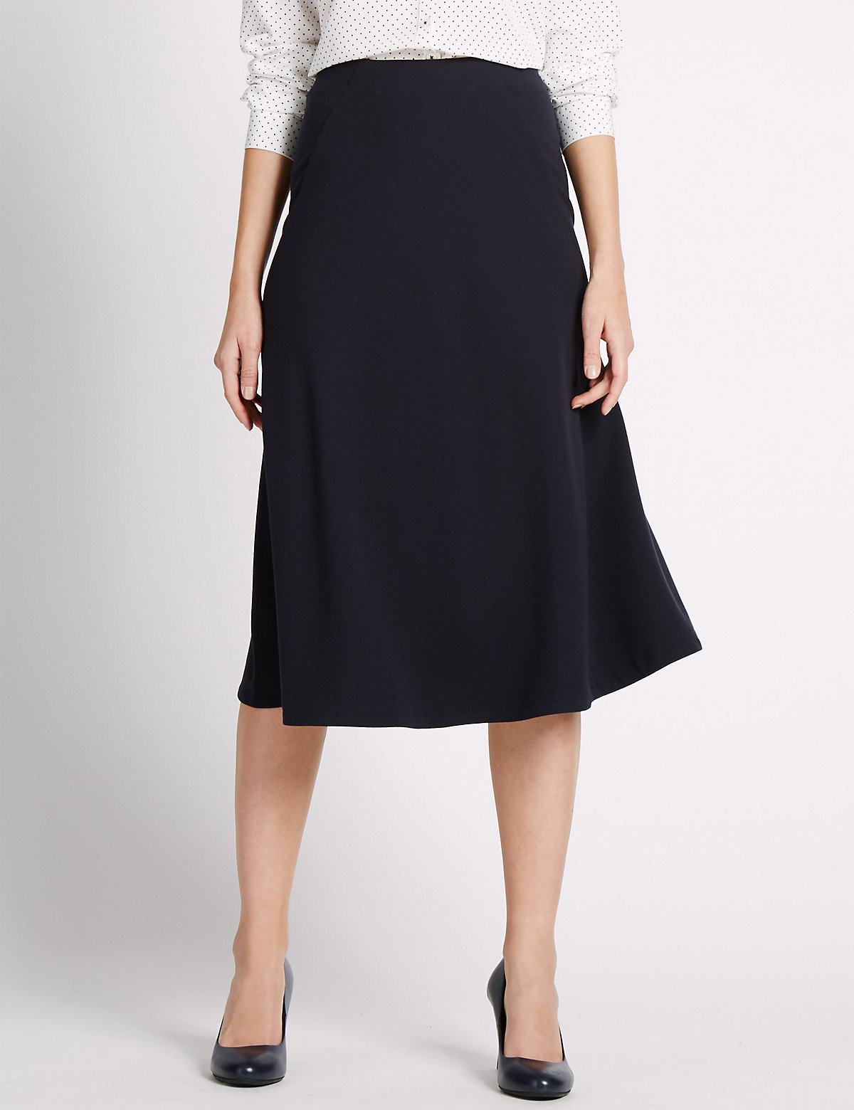 Classic Crepe A-Line Skirt
