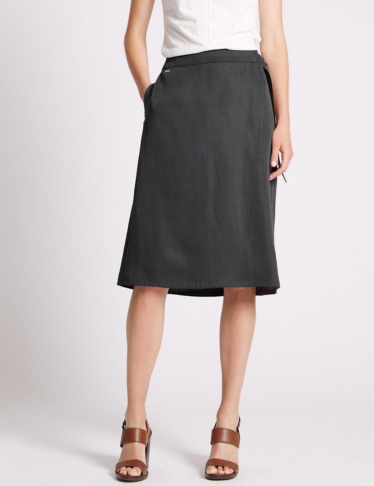 Per Una A Line Wrap Skirt