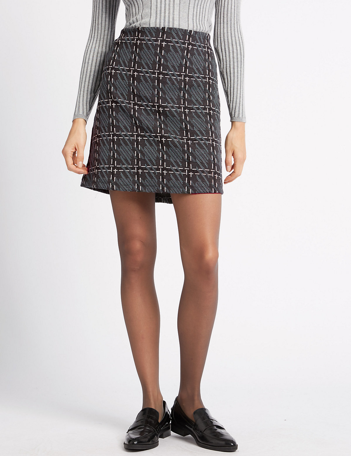 M&S Collection A-Line Mini Skirt with New Wool