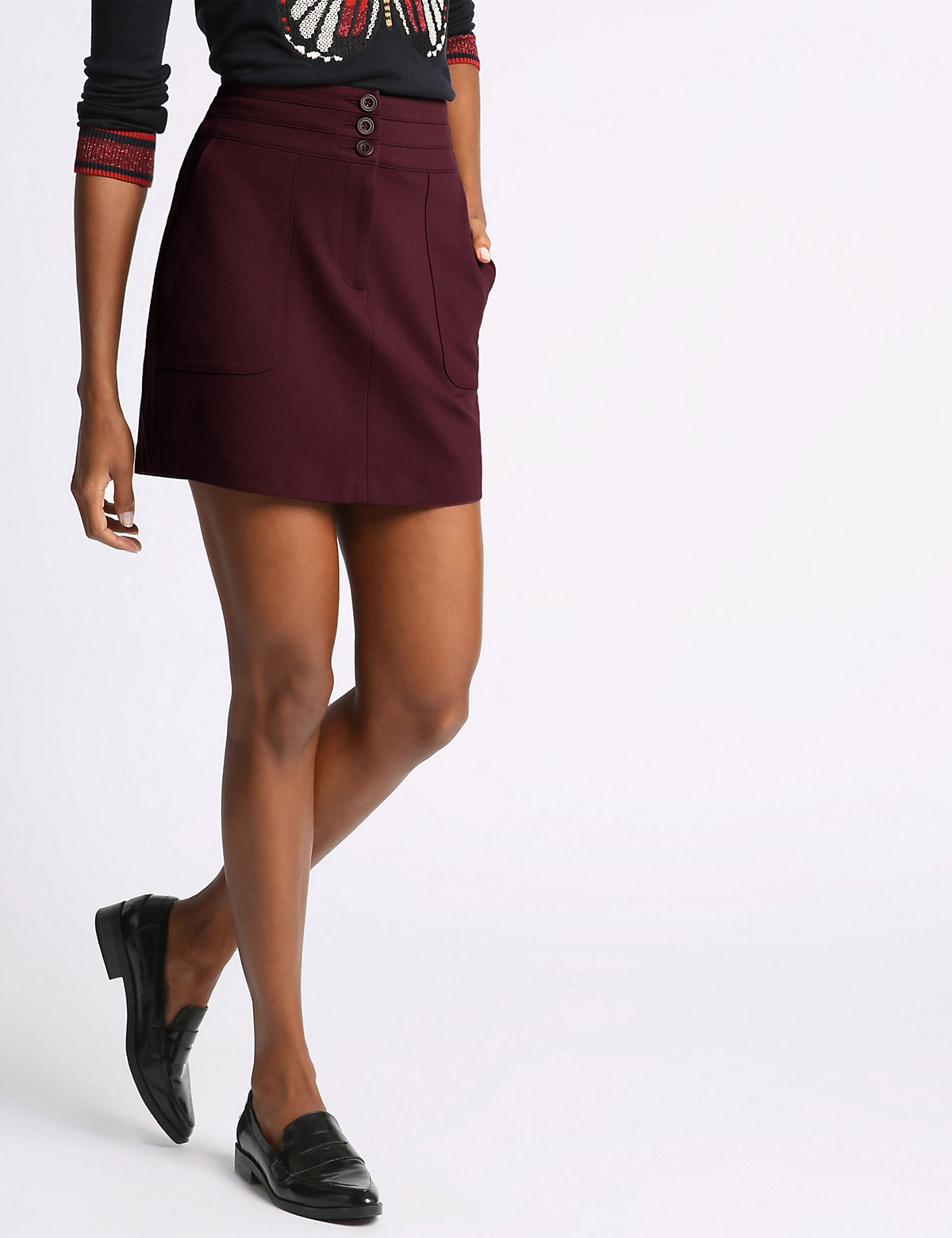 M&S Collection Ponte Mini Jersey Skirt