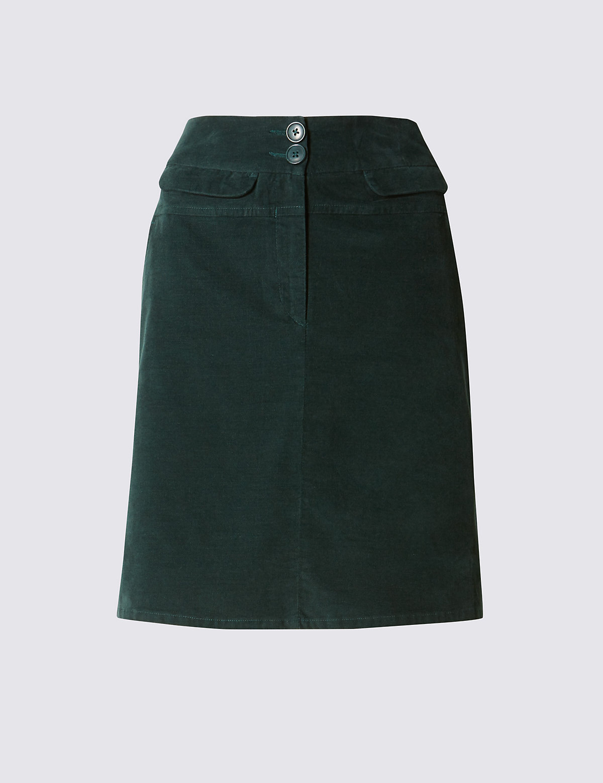 M&S Collection Cotton Rich Velveteen Mini A-Line Skirt