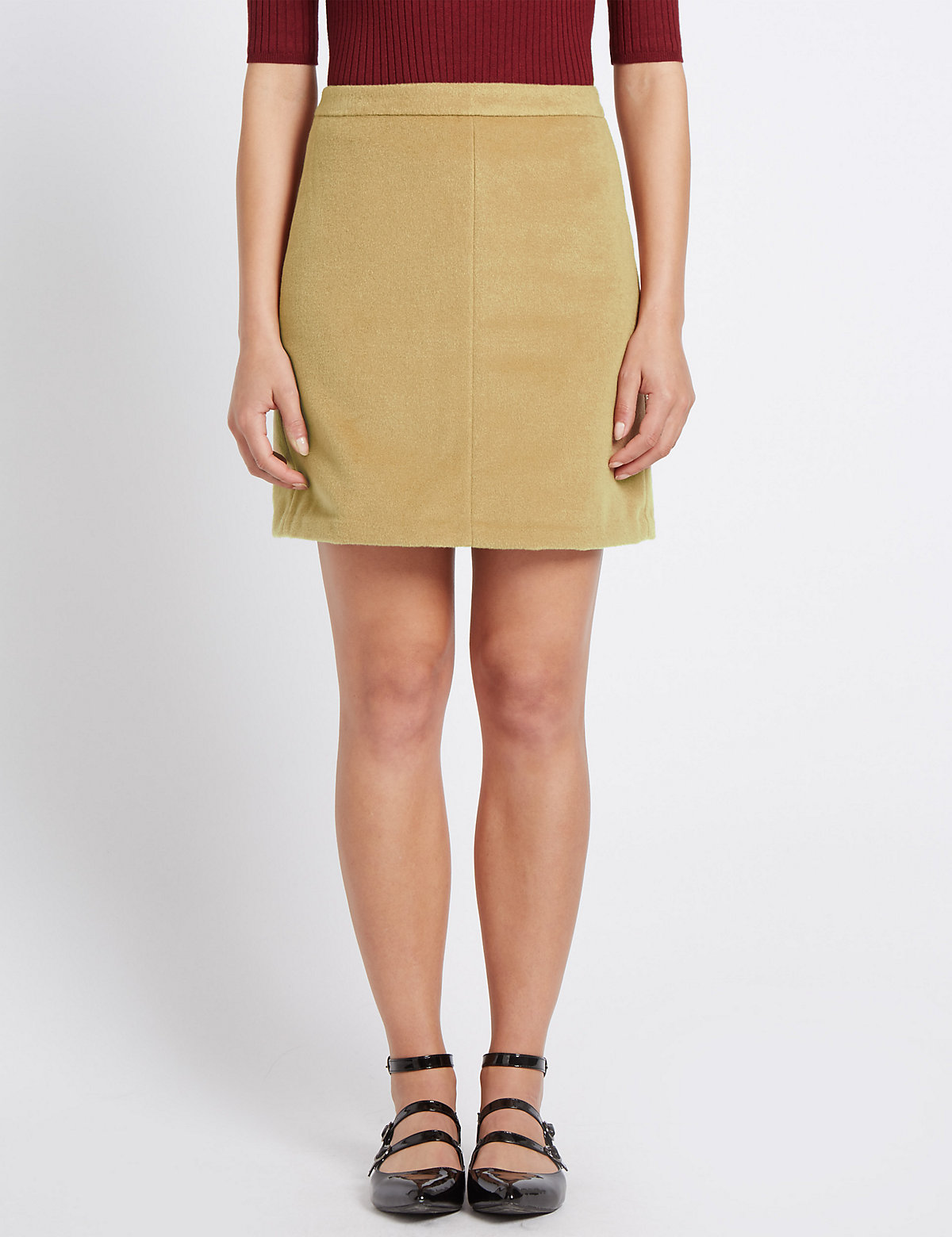 M&S Collection Mini A-Line Skirt with Wool