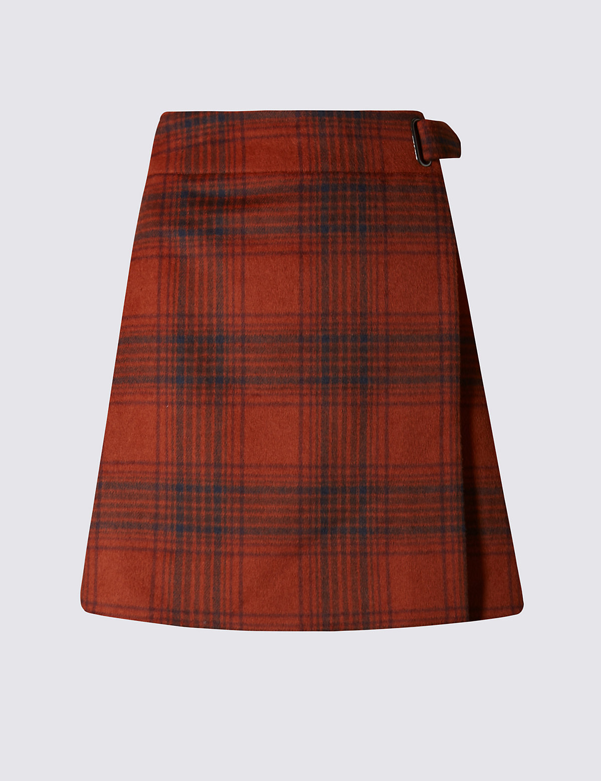 M&S Collection Wrap Checked A-Line Mini Skirt