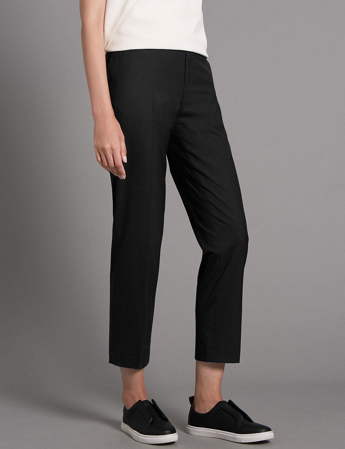 Autograph Tapered Wool and Silk Mix Trousers