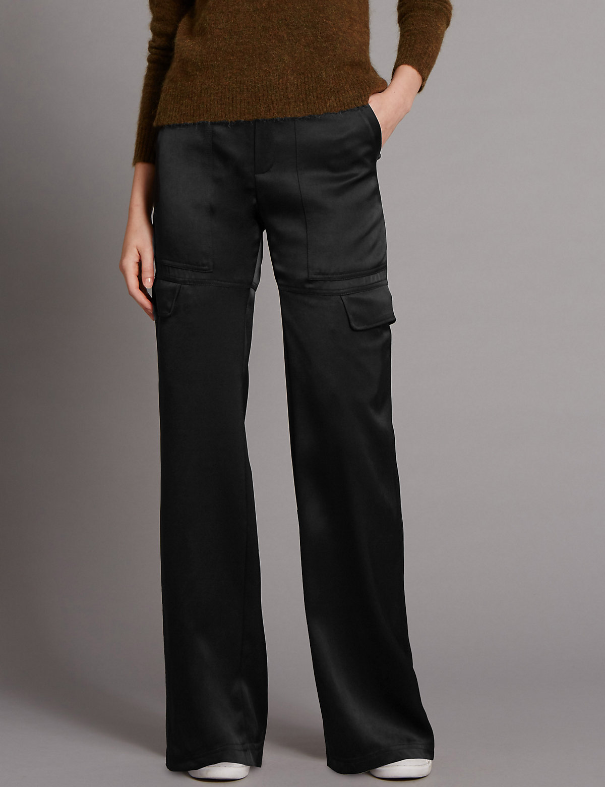 Autograph Wide Leg Cargo Trousers