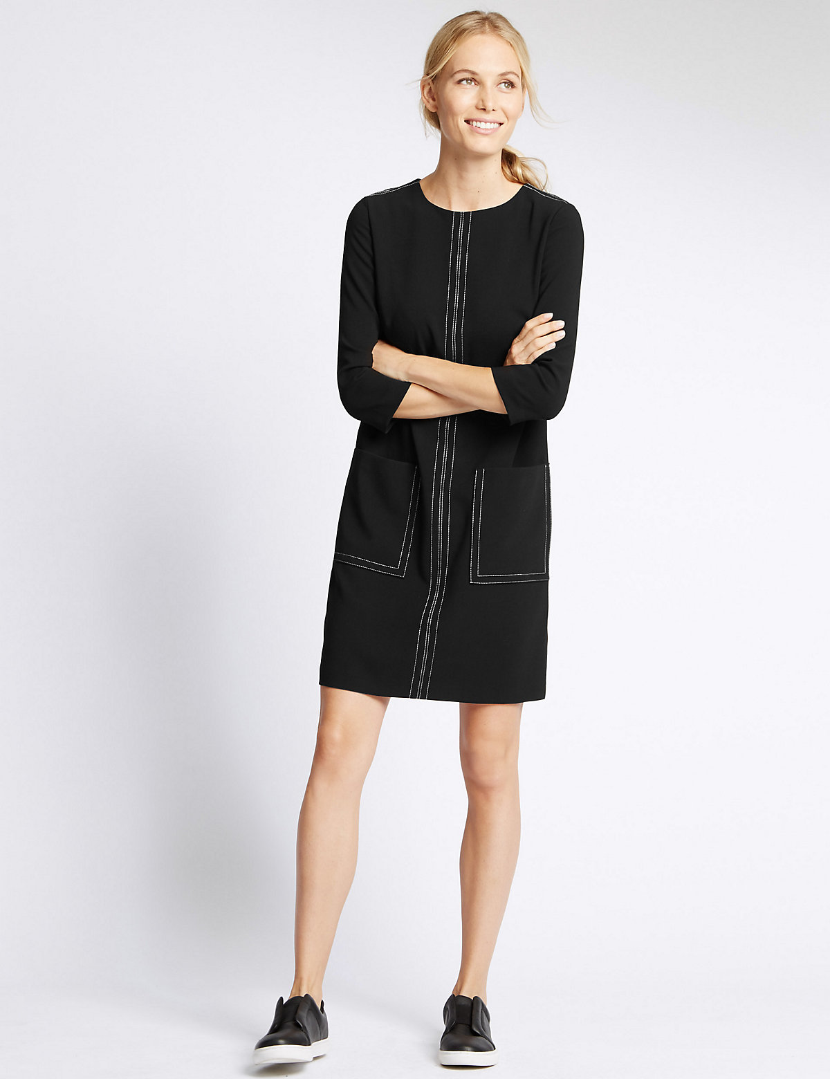 M&S Collection Patch Pocket Shift Dress